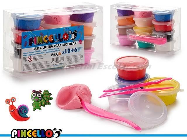 Pasta de modelar juego de 12 colores 300 gramos pincello - Pasta para modelar manualidades ...